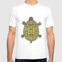 Tiled Turtle Mens Fitted Tee White SMALL