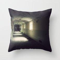 The Lost Asylum Throw Pillow