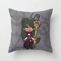 Steampunk Sailor Pluto - Sailor Moon Throw Pillow