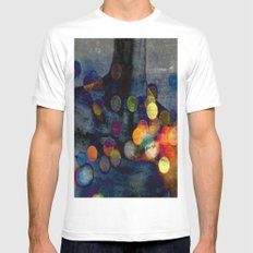 QUIESTU White Mens Fitted Tee SMALL