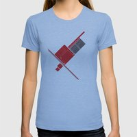Floppy Disk Womens Fitted Tee Athletic Blue SMALL