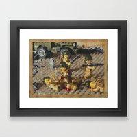 Omaha Beach, June 6, 1944 Framed Art Print