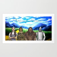 No Place Like Home Wizard Oz Art Art Print