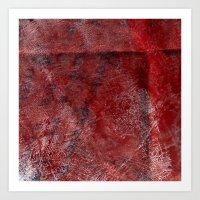Red Watercolor Art Print