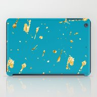 iPad Case featuring Teal And Gold  by Haroulita