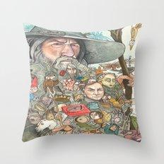 Gandalf's Beard Throw Pillow
