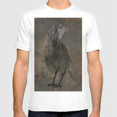 Inside Crow SMALL White Mens Fitted Tee