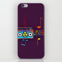 Radio Active musical waves iPhone & iPod Skin
