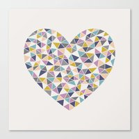 Faceted Heart Canvas Print