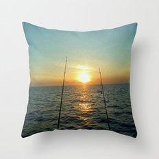 FISHING Throw Pillow