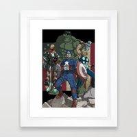 The Avengers: Earth's Mightiest Heroes Framed Art Print