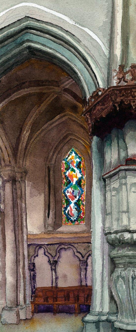 Cathédrale, partie deux Art Print