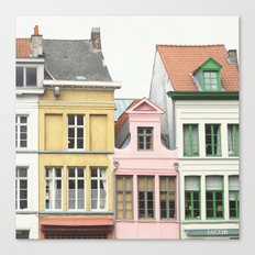 Gent Houses - Belgium Photography Canvas Print