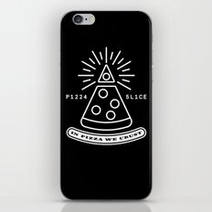 Dollar Slice BLACK iPhone & iPod Skin