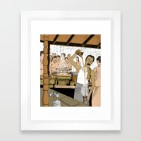Coffee Man Framed Art Print