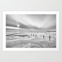 Berrow Beach Art Print