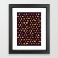 Framed Art Print featuring Autumn Mix by Littleclyde