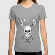 Creepy Xmas Womens Fitted Tee Tri-Grey SMALL