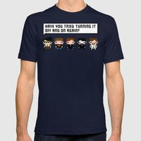 The IT Crowd Characters Mens Fitted Tee Navy SMALL