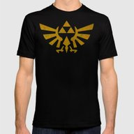 Zelda Golden Hylian Cres… Mens Fitted Tee Black SMALL