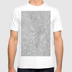 2D Pizza Mens Fitted Tee SMALL White