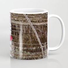 Little Red Riding Hood Runs Through The Woods In Winter Mug