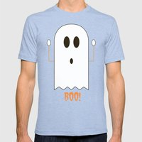 You Look Like You've Seen  A Ghost Mens Fitted Tee Tri-Blue SMALL