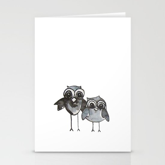 Two Feathered Friends Stationery Card