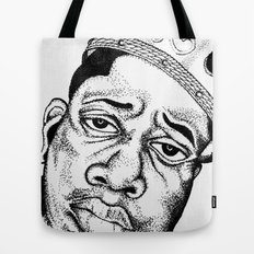 Biggie Smalls Stippling Tote Bag