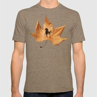 Horse On A Dried Leaf Mens Fitted Tee Tri-Coffee SMALL