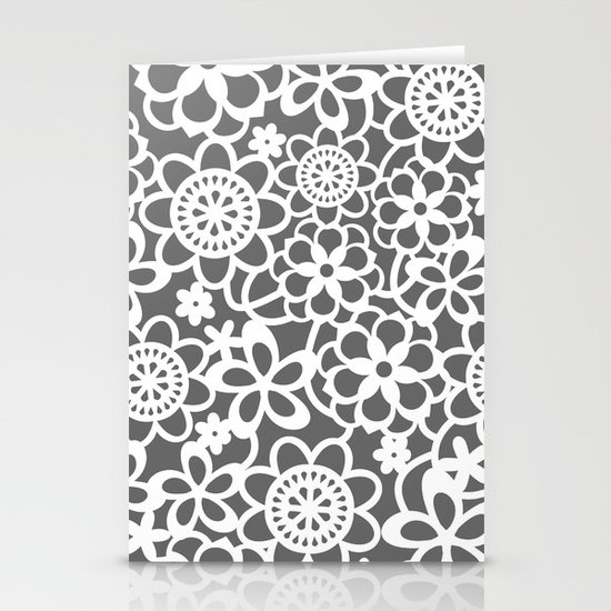 Filigree Floral Lace Stationery Card