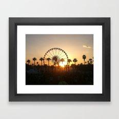 Coachella Sunset Framed Art Print