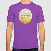 You Make Me Happy When Skies Are Gray Mens Fitted Tee Ultraviolet SMALL