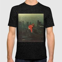 houston Mens Fitted Tee Tri-Black SMALL