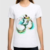 Ohm Womens Fitted Tee Ash Grey SMALL
