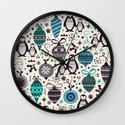 Silver Trinklets  Wall Clock
