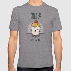 Are you bored? Just eat me! Mens Fitted Tee Tri-Grey SMALL