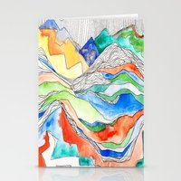 Technicolor Mountains Stationery Cards