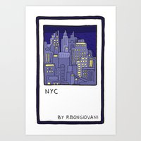NEW YORK Card Art Print