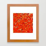 Dots On Red Framed Art Print