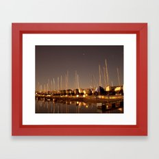 The Docks at Night Framed Art Print