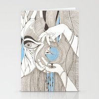 Small blue thing Stationery Cards