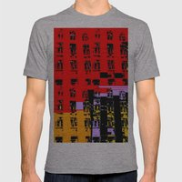 NEWYORK Mens Fitted Tee Athletic Grey SMALL