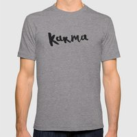 Karma Mens Fitted Tee Athletic Grey SMALL