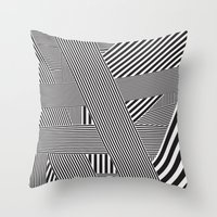 B&W Lines 21/05/14 Throw Pillow