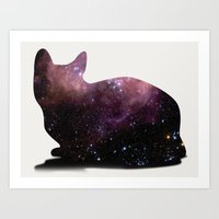 Willow the Galaxy Cat! Art Print