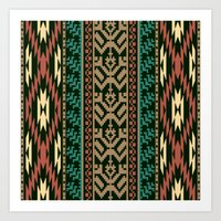 Ethnic pattern Art Print