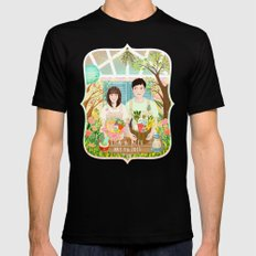 Wedding invitation design for Lisa and Alex SMALL Mens Fitted Tee Black