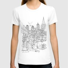 London! Womens Fitted Tee White SMALL