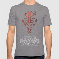 Darth Maul Mens Fitted Tee Tri-Grey SMALL